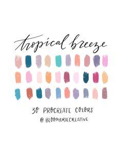 Colour Pallette, Color Combos, Color Schemes, Color Psychology, Psychology Meaning, Tropical Colors, Ipad Art, Colour Board, Aesthetic Colors