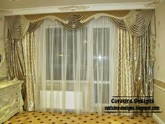 Embossed curtain designs and draperies for bedroom, Luxury embossed curtains