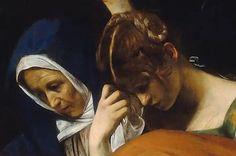 Caravaggio - La Verge i Magdalena detall del descens de la Creu (1602-1604)