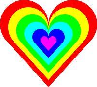Color, Heart, Rainbow