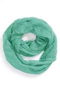 Mint Crochet Infinity Scarf