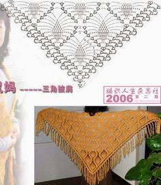 Häkelmuster Fundgrube: Schultertuch im Ananas-Muster