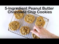 5-Ingredient Peanut Butter Chocolate Chip Cookies Recipe - Tablespoon.com