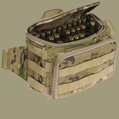 Specops: CheyTac .408 ammunition bag - Holds and protects 50 rounds in a secure zipped up bag.