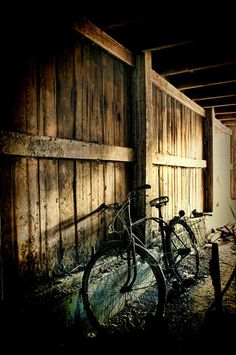 Items similar to Fine Art Photography: Abandoned Barn with a bike. Abandoned Hospital, Abandoned Amusement Parks, Abandoned Cities, Abandoned Houses, Pennsylvania Dutch Country, Lancaster Pennsylvania, Lancaster County, Abandoned Train Station, Forgotten Treasures