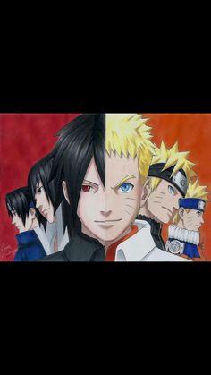 Naruto and Sasuke. #Team7
