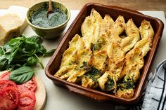 Ricotta-Stuffed Shells With Pesto Recipe - NYT Cooking