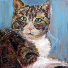 Cleo, Acrylic, 12 x 2013 Science Art, Pets, Painting, Animals And Pets, Painting Art, Paintings, Paint, Draw