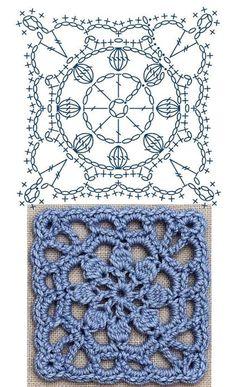 Special Granny square - triple crochet granny square - different granny square -. Special Granny square – triple crochet granny square – different granny square – Tamil – DI Crochet Motifs, Granny Square Crochet Pattern, Crochet Diagram, Crochet Chart, Crochet Squares, Love Crochet, Diy Crochet, Crochet Flowers, Crochet Stitches