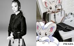 Campanha Prada pelo Tumblr Pokemon&Fashion