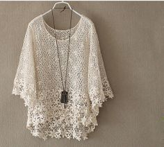 Crochet lace design inspiration - small and large pattern combination