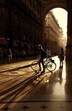 in the street………milan (by Sanzen)