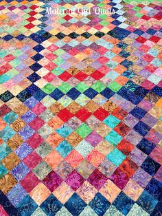 Happy Trips Around the World (scrappy trip along) by Material Girl Quilts, via Flickr