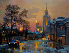 Image result for city twilights paintings