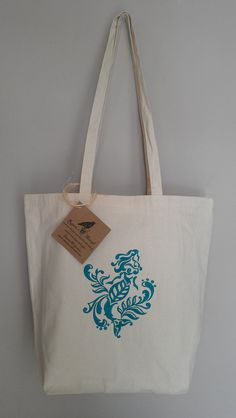 Mermaid Tote Beach Bag embroidery damask design by RavensThread, $25.00