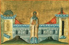 Saint Sophronius the Archbishop of Cyprus century) Menologion of Basil II, cent. illuminated byzantine manuscript with 430 miniatures, now in Vatican library (Vaticanus graecus Vatican Library, The Afflicted, Byzantine Icons, Catholic Saints, Cyprus, Christianity, Bible, History, Drawings