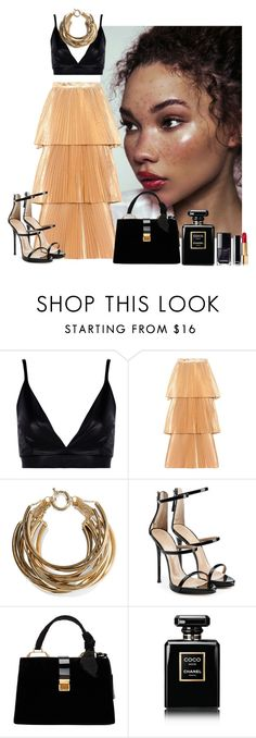 """Curvy hips and red lips"" by curlysuebabydoll ❤ liked on Polyvore featuring Boohoo, STELLA McCARTNEY, Rosantica, Giuseppe Zanotti, Miu Miu and Chanel"