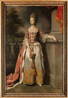 Charlotte Countess of Abingdon - Sir Nathaniel Dance-Holland c. Oil on canvass with portrait subject dressed n coronation robes, holding a coronet in her right hand. Historical Costume, Historical Clothing, 18th Century Costume, Court Dresses, 18th Century Fashion, 17th Century, Princess Costumes, Period Costumes, Woman Painting