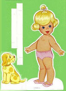 (⑅ ॣ•͈ᴗ•͈ ॣ)                                                            ✄Miss Missy Paper Dolls: tearful baby tenderlove