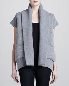 Reversible Quilted Vest by Donna Karan at Neiman Marcus.