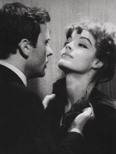 Jean-Louis Trintignant and Romy Schneider, Le combat dans l'île, 1962.