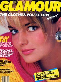 Paulina Porizkova - Glamour March 1985