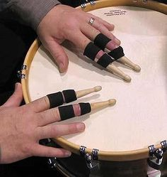 Finger drums! Coolest ever!
