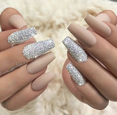 Blinged up nails #cute