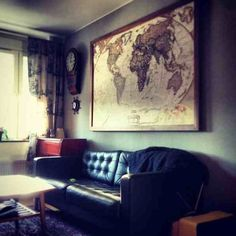 Vintage World map in colour <3