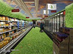 Supermarkten worden steeds groener, aangezien de behoefte aan groene producten groeit.