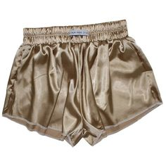 Vintage Gold High Waist Satin Shorts (1.710 RUB) ❤ liked on Polyvore featuring shorts, bottoms, high-rise shorts, high-waisted shorts, vintage high waisted shorts, highwaist shorts and vintage shorts