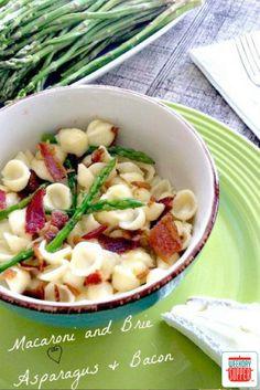 Bacon Asparagus Brie Macaroni #WeekdaySupper