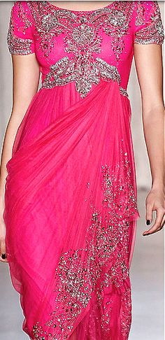 Marchesa!!! Bebe'!!! Love, love, love this pink and silver evening gown!!!
