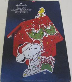 Vintage Hallmark Peanuts Snoopy & Woodstock Christmas Centerpiece @ niftywarehouse.com #NiftyWarehouse #Geek #Fun #Entertainment #Products