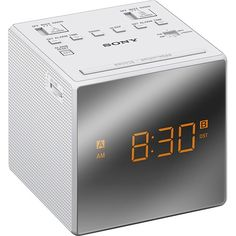 Rise and shine with a alarm clock radio. While a large, easy-to-read, backlit LCD display with jumbo LEDs make reading the time from across the room a snap. Radios, Radio Alarm Clock, Digital Alarm Clock, College Dorm List, 12 Hour Clock, Back Up, Ceiling Speakers, Video Home, Led