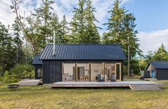 """Dwell Home of the Day: """"The Coyle"""" located in Quilcene, Washington. Architecture by @prentissbalancewickline. Head to the link in our bio to check out the whole home. Photo by Alexander Canaria and Taylor Proctor. #dwell #DwellHOTD #Architecture"""