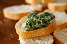 Warm Spinach Mascarpone Dip ~ http://steamykitchen.com