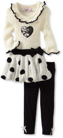 So Cute I cannot resist shopping for my baby girl! Amazon.com: Little Lass Baby-Girls Infant 2 Piece Sweater and Skirt Set: Clothing