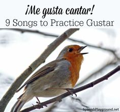 Me gusta and I like have the same meaning but different structures, so mastering gustar takes practice. These 9 songs teach gustar to kids learning Spanish. #Spanish #songs for kids http://www.spanishplayground.net/me-gusta-cantar-songs-practice-gustar/