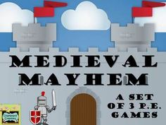 Three awesome large group PE games, centered around a middle -ages theme! Each game comes with detailed instructions and easy to follow directions.