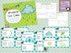 Weather Task Cards Freebie...great for our first science unit.