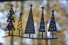 Weihnachtsfensterdeko aus Vinyl Folie