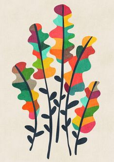 Flower from the meadow Mini Art Print by budikwan Art And Illustration, Illustrations, Abstract Flowers, Abstract Art, Art Graphique, Painting Inspiration, Creative Art, Flower Art, Art Projects