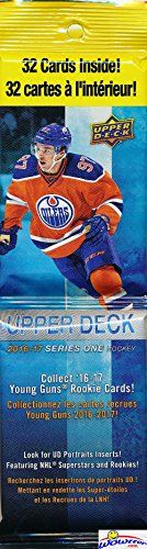 2016-17 Upper Deck Series 1 NHL Hockey HUGE Factory Sealed Jumbo FAT PACK with 32 Cards! Look for Young Gun Rookie Cards of Austin Mathews William Nylander Zach Hyman Patrick Laine & More! HOT!