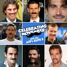 If the ATP's Elite 8 participated in Movember, they might look something like this... Who's your favorite?