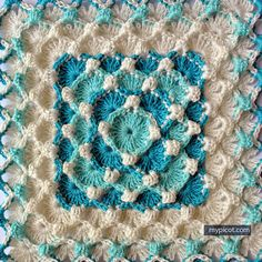 @ MyPicot - Free crochet pattern - textured bubble square