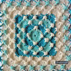 @ MyPicot - Free crochet pattern - textured bubble square
