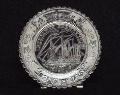 "Boston and Sandwich Glass Company | Boston and Sandwich Glass Company, ""Benjamin Franklin"" cup plate, 1830 ..."