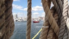 A nautical feel at Ipswich Waterfront during Maritme Ipswich 2015 in August 2015.  This photo was taken on board one of the historic vessels.