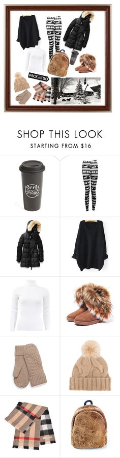 """Untitled #40"" by femina-mode ❤ liked on Polyvore featuring The Created Co., Boohoo, Canada Goose, WithChic, Michael Kors, Loro Piana and Burberry"